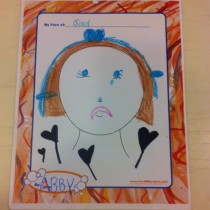 Abby, Orange County, CA How she sees herself sad.