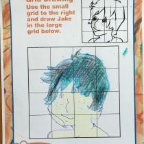 Steven, 7, Dallas, TX, Drawing Jake