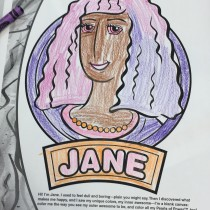 Whitney, 10, Liverpool, England, Coloring Jane
