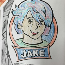 Tra, 12, Arnold, MD, Coloring Jake